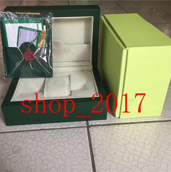XX Luxe Vert foncé Coffret cadeau cas pour Rolex Montres Livret cartes Etiquettes et papiers en anglais Montres suisses Boxes857