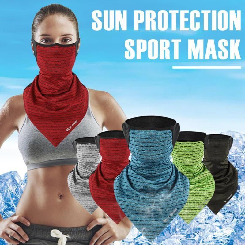 Велоспортные шапки маски ледяные шелковые шарф ушные петли шеи гайтер ультрафиолетовая защита пылезащитный бандана маска лица