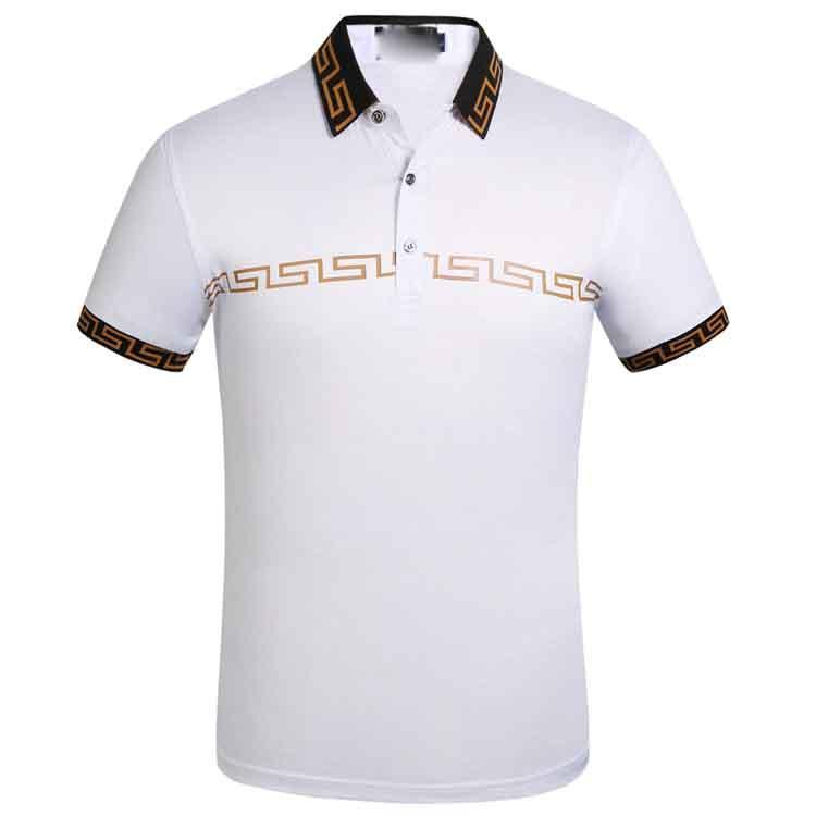 2020 Marka tasarımcı polo yaka erkek Lüks tişörtleri nakış Harf Moda şerit Baskı Pamuk polos ile Casual polos