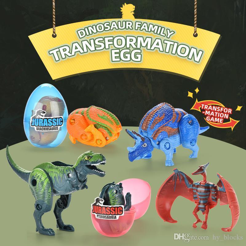 Dinosaurio Educación 02 Figuras sorpresa Dinosaurio Juguete Bebé Modelo de Pascua Niños Mini Juguetes Huevos Mundo XPLQC