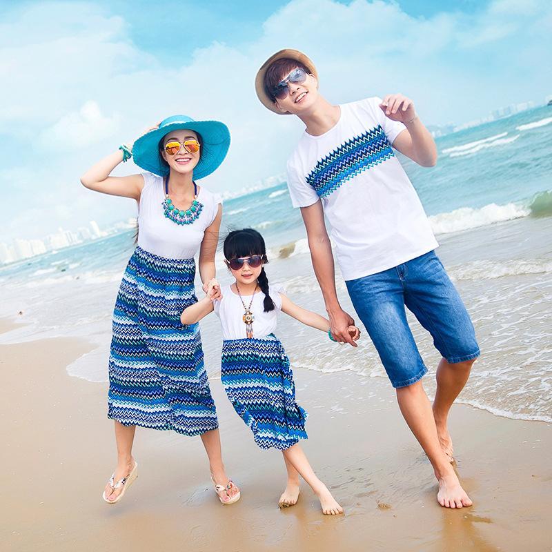 Семья Matching Одежда Набор для Отец Сын футболки Мать дочь платье мамочка And Me Roupas Da Familia 029
