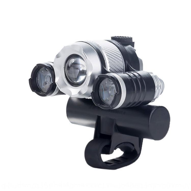 T6 forte faro LED faro USB bicicletta pesca induzione lampada zoom carica apparecchiatura esterna lampada della bicicletta KCnqU