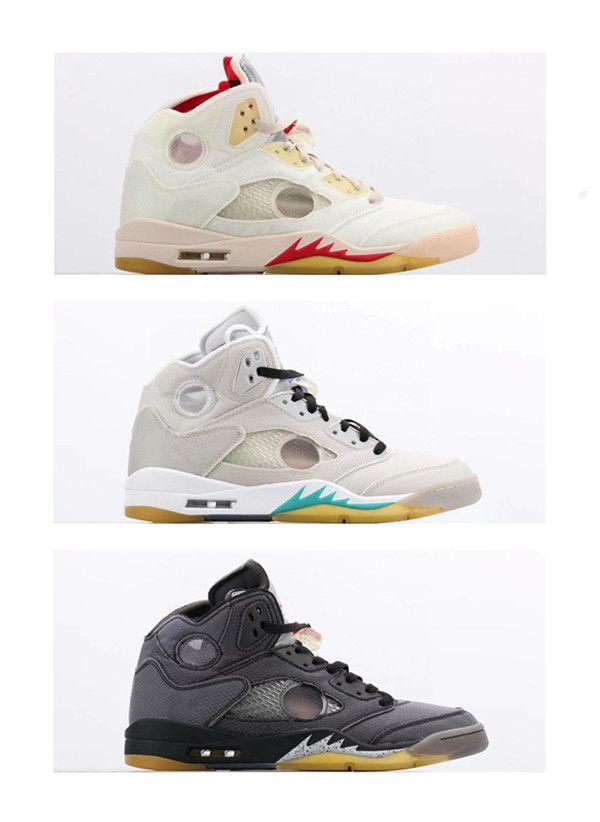 2020 Nouvelle arrivée Hommes Basketball Blanc Jaune 5S Orange Rouge 3M Gris Chaussures Vert sport meilleure qualité Sneakers chaussures taille 40-47