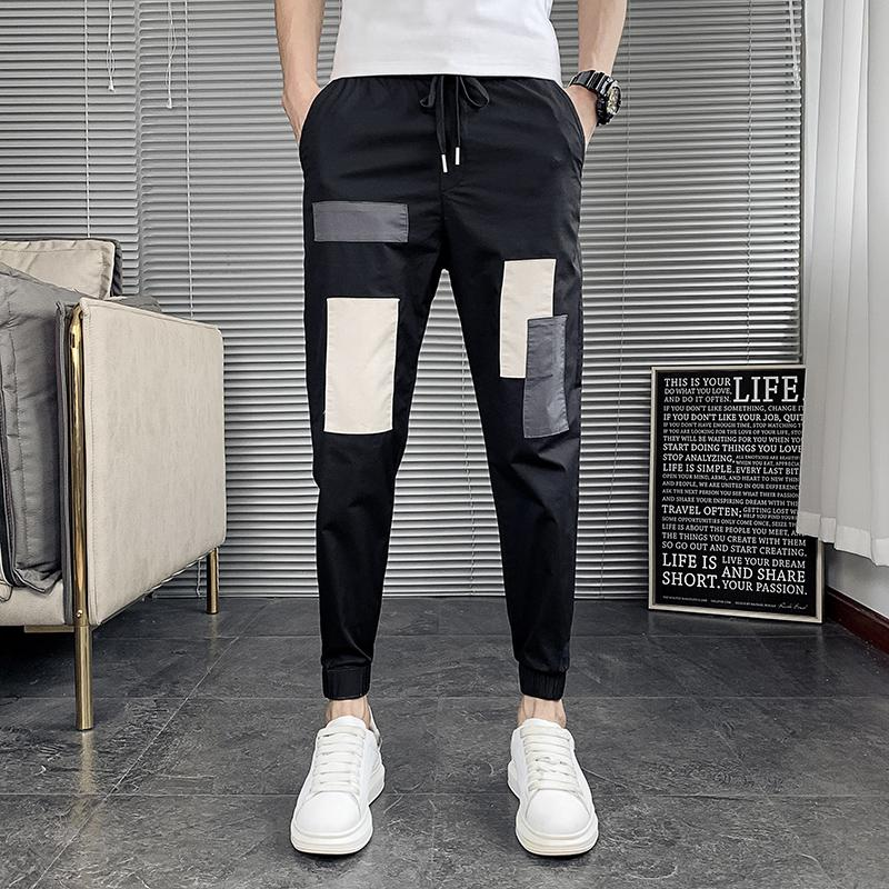Pantaloni Patchwork Cargo Harem Uomo 2020 Hip Hop Casual Male Tatical jogging Pantaloni Fashion Casual lunghezza Streetwear pantaloni alla caviglia