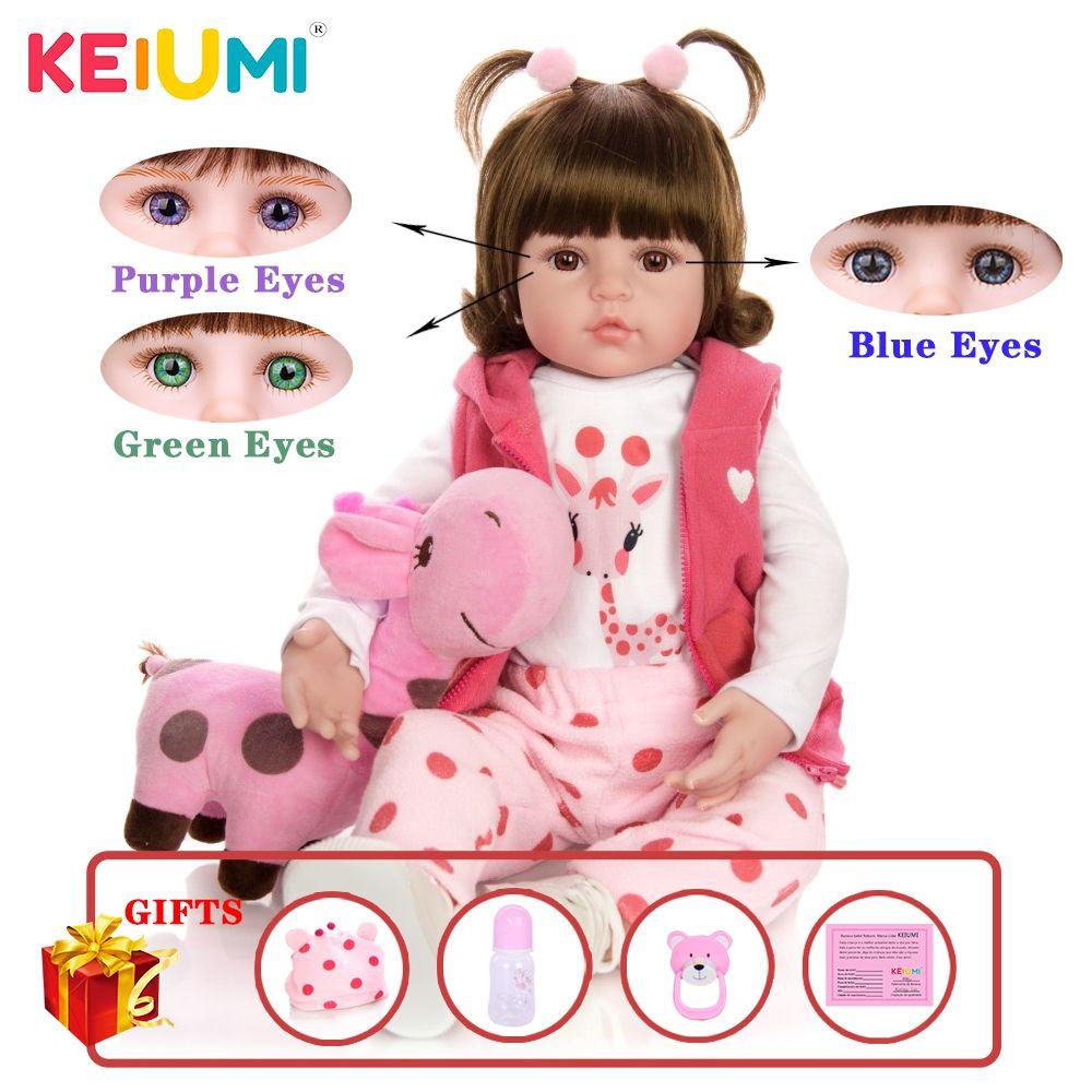 KEIUMI Горячая продажа Reborn Детские игрушки куклы ткани тела Фаршированная Реалистичная Baby Doll с Жираф Малыша день рождения рождественские подарки CX200715