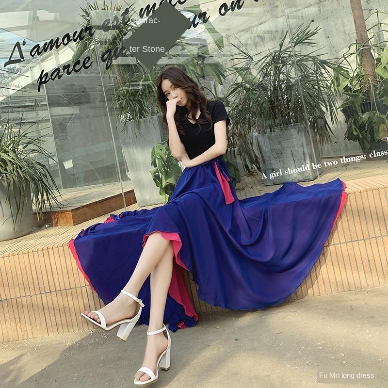 8v23w red sur mesure danse rouge m extra large 8 jupe jupe jupe noire danse Xinjiang deux couleurs
