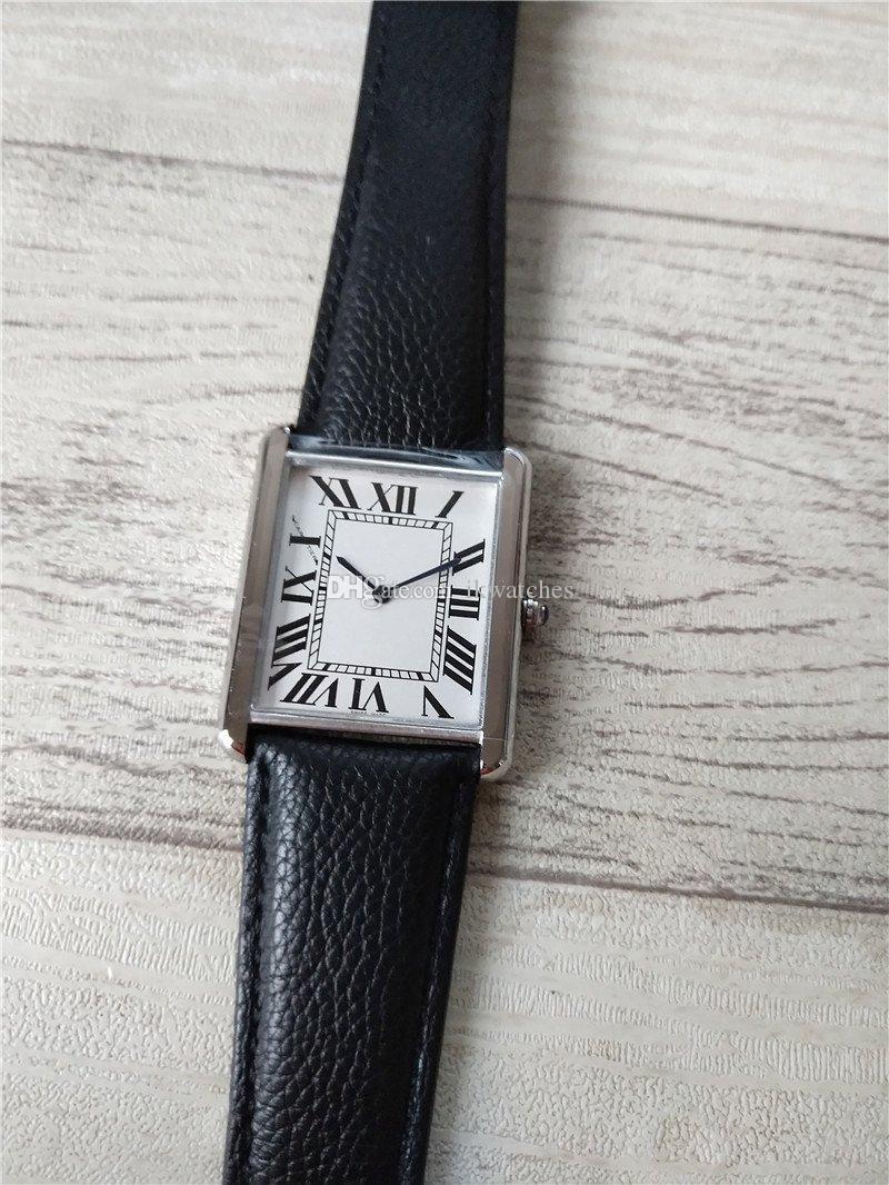 뜨거운 판매 새로운 패션 남자 시계 스테인레스 스틸 실버 케이스 화이트 다이얼 남성 시계 쿼츠 시계 052-2 무료 배송.