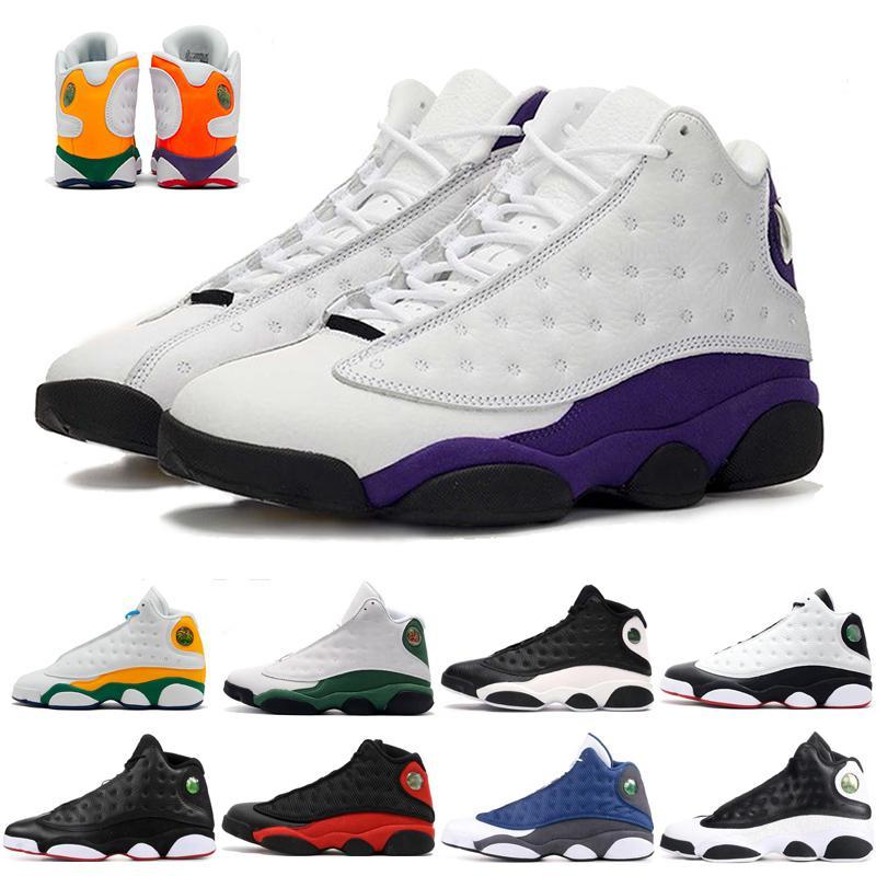 جديد أورورا الخضراء ملعب 13S Jumpman 13 كرة السلة للرجال أحذية ولدت كاب وثوب فلينت المحكمة الأرجواني NakeskinالأردنRetros