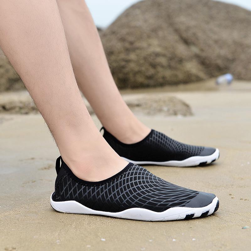 Летние кроссовки быстросохнущей воды обувь Мужчина Акв обувь Женщина Открытый пляж Спорт Дышащие Серфинг