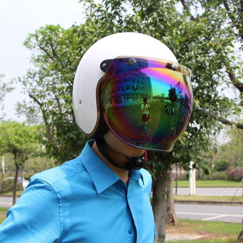Unisex de múltiples colores Inicio del parabrisas de la motocicleta Casco de calidad para la vendimia para 400 Tipo de protección Casco Jet Estilo UV