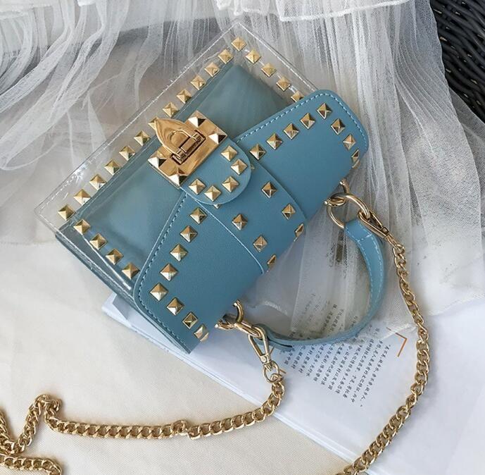 La nueva manera del verano de 2020 versátil bolsa de mensajero de un bolso de mano cruzada cuerpo bolso de la jalea