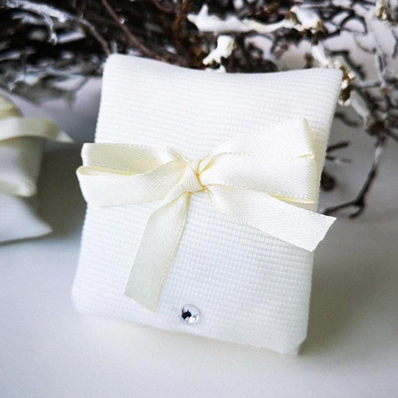 Dell'orecchino della collana di 50 Pezzi / Lotto monili sacchetto Sticky Buckle Regalo Borsa pieghevole Packaging Sacchetti con bowknot strass Candy Bags 4rrB #