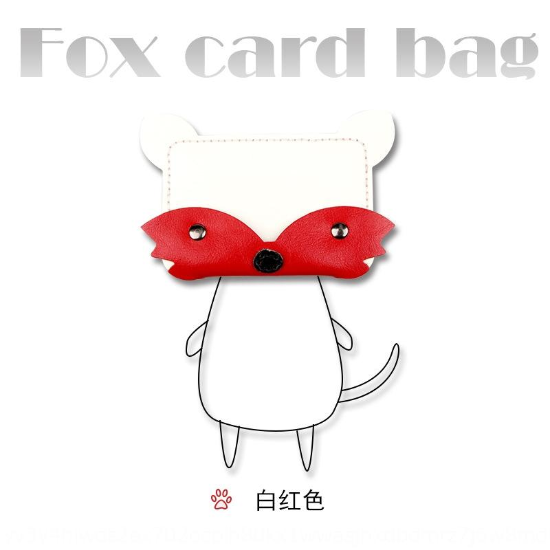 gRExQ Little Fox card holder Diy wallet Gift wallet material package diy genuine leather coin purse semi-finished product best friend South