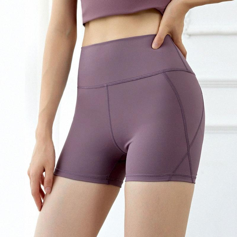 2020 2020 High Waist Seamless Yoga Shorts Active für Frauen Sporthosen Feste festes Yoga Leggings Gym Fitness Sport OSNR #
