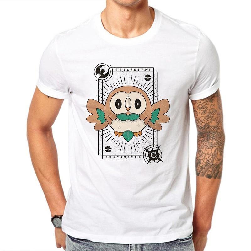 Camisetas Homens T Shirt T-shirt da cópia dos desenhos animados engraçado Femme Manche Courte Japão Moda Mens camisas brancas