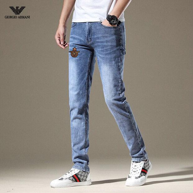 Neue Art und Weise Männer schwarze Jeans Skinny Stretch dünne zerrissene Westen Hip-Hop Swag denim Motorrad Bikerhosen Jogger ~~ SD54
