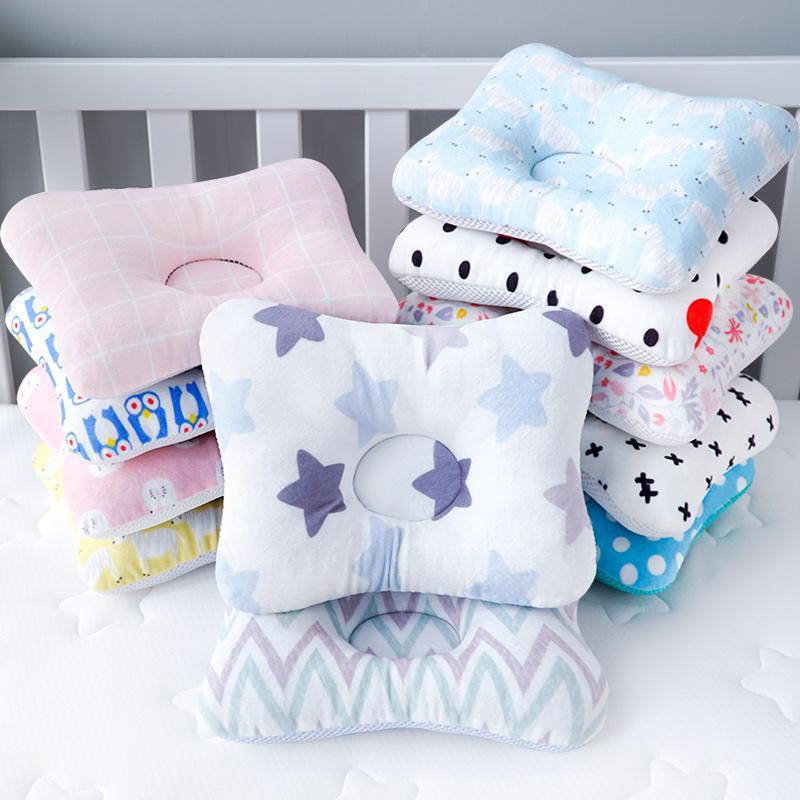 Protecção da cabeça almofada travesseiro bebê recém-nascido Crianças Almofadas animal Impresso Cotton Crianças travesseiro posicionador sono Dropship