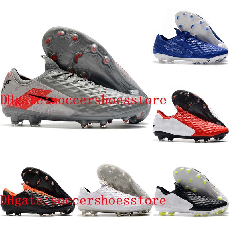 2020 top quality mens soccer shoes Tiempo Legend 8 Elite FG outdoor soccer cleats Crampons de football hot scarpe da calcio