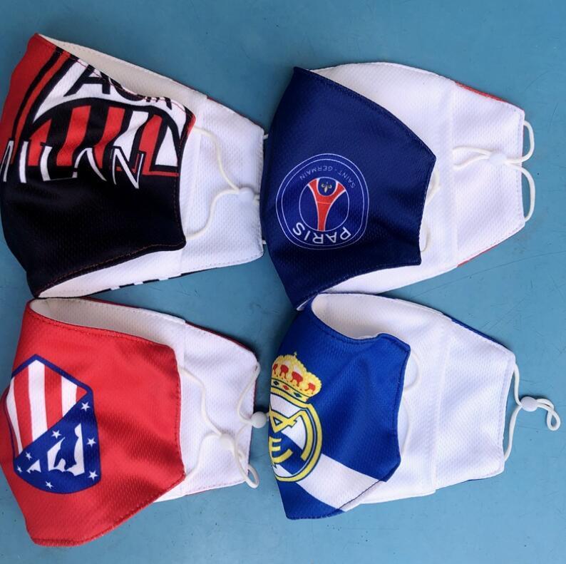 Calcio souvenir tessuto di cotone della nazionale di basket maschera antipolvere calcio Fans maschere traspirante Outdoor Sports riutilizzabile lavabile