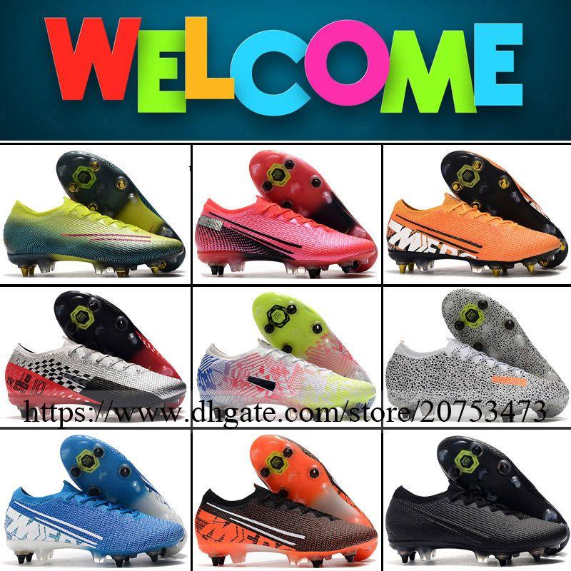 أحذية زئبقي ال superfly XIII النخبة SG المسامير الرجال لكرة القدم المرابط أحذية كرة القدم CR7 نيمار أعلى جودة في الهواء الطلق المدربين منخفضة ACC كرة القدم