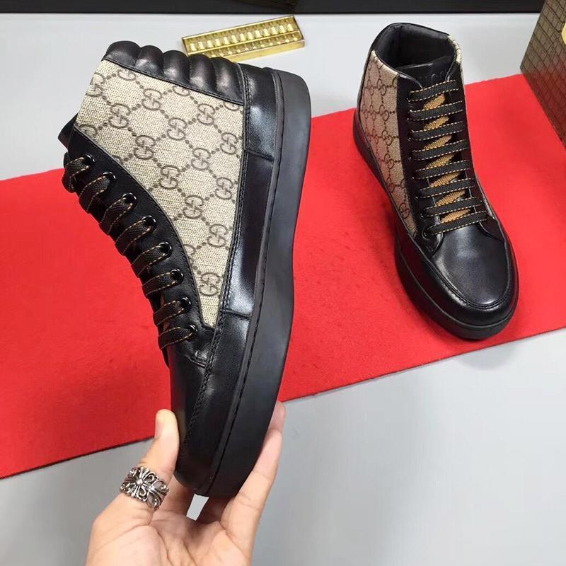 Homens '; S High Top Moda Mens Sapatos Outono E Inverno de alta qualidade Footwears Lace -Up Plus Size Casual Men Sports Shoes Rápido De