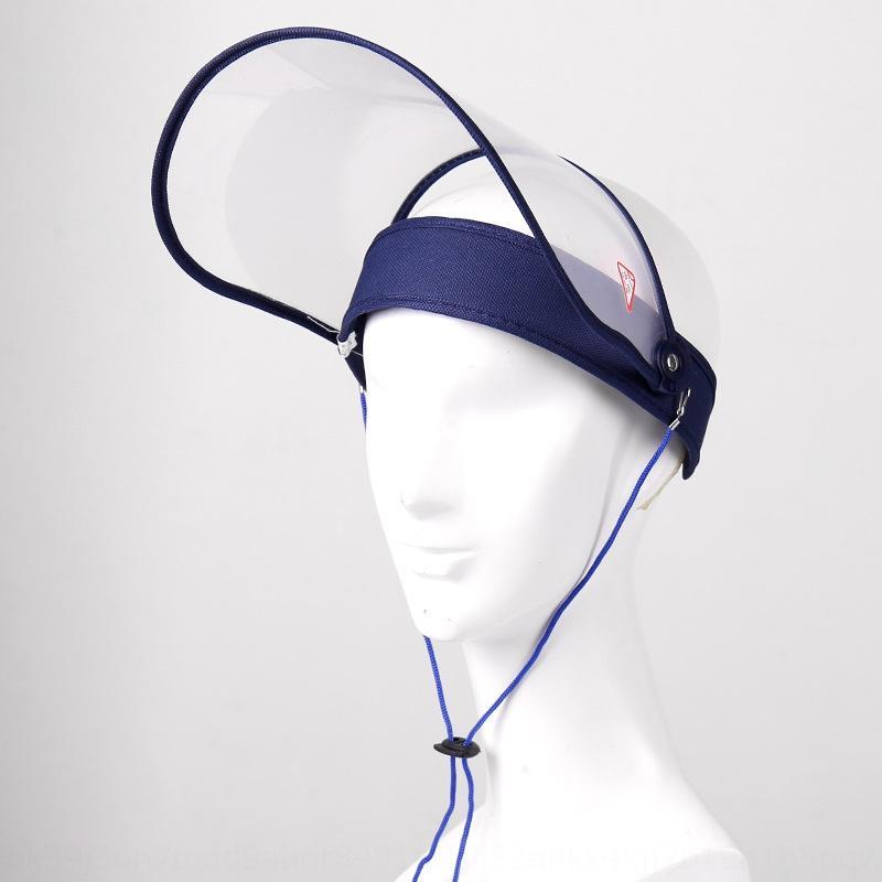Masque masque de protection anti-épidémie anti-vol chapeau d'isolation transparent PC en mousse avant-toits rallongés visage protection chapeau haut vide