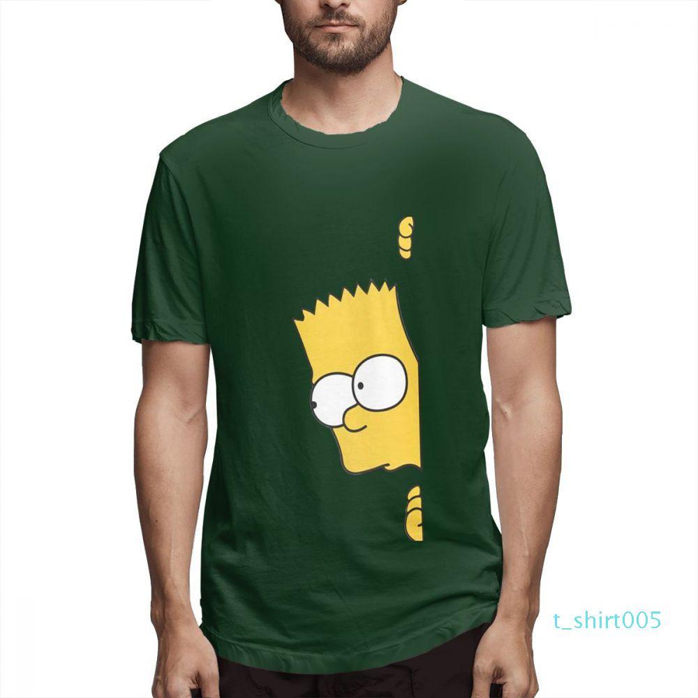 Coton Les Simpsons Mode Chemises Designer Femme Chemises Hommes manches courtes T-shirt Simpsons T-shirts imprimés causales c3709t05
