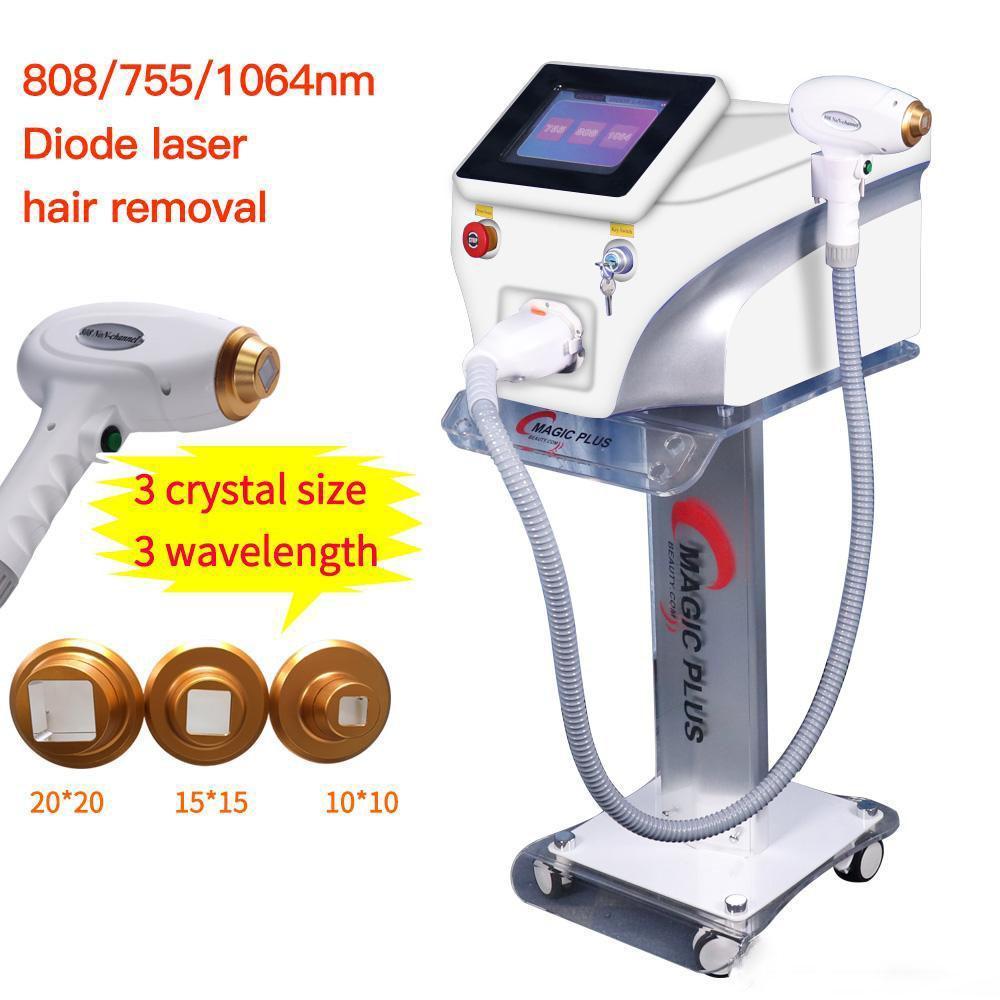 Salon Gebrauch Haarentfernung 1064nm 755nm 808nm Diodenlaser Permanent Haarentfernung Körpergesicht Laser Schönheit Maschine