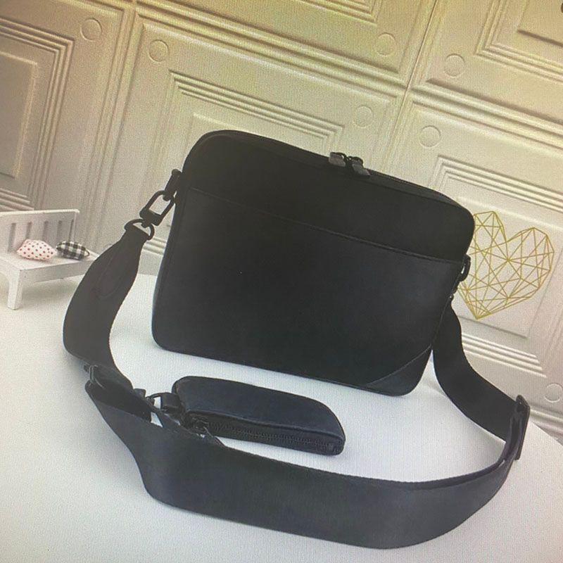جلدية M69827 SPRINTER رسول حقيبة مونو منقوش الظل لينة رجل CROSSBODY حقائب 2 قطعة مجموعة أزياء الرجل كتف حقيبة مع محفظة محفظة