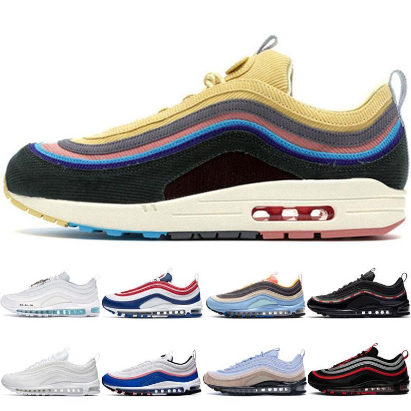 Venta caliente del zapato de la astilla de bala corriendo los hombres de neón del arco iris Seúl Periódico leopardo rojo triples mujeres blancas hombre reflexivo Bred entrenadores zapatilla de deporte