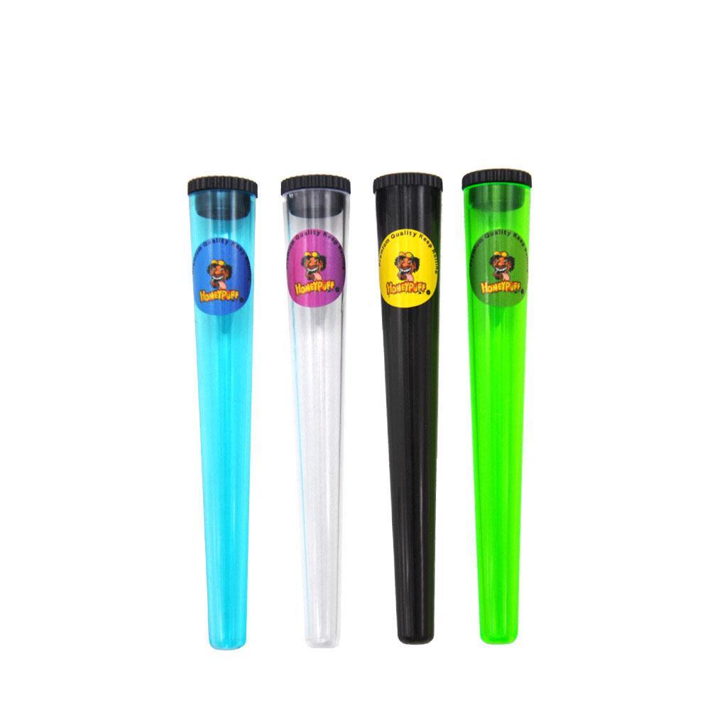 115MM Kunststoff Doob Tubes Zigarette Lagerung Cones Airtight Verpackung Rohr Vial Wasserdicht Pill Box Für 110mm Dreh Papier Kegel-Rohr Etui