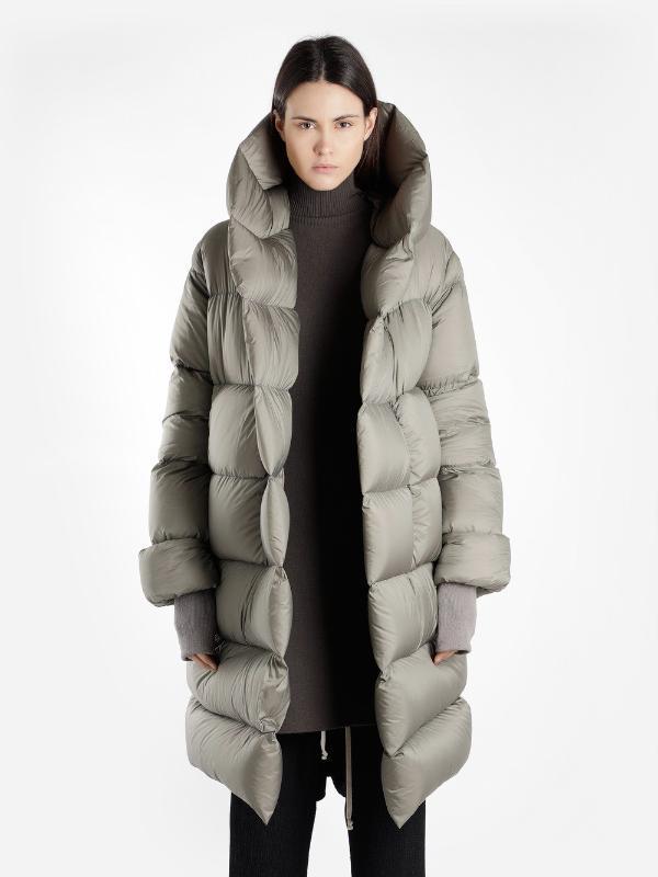 Donne 2020 New Winter design di qualità di marca Super oversize con cappuccio spessore caldo il 90% Bianco parka cappotto lungo femminile della tuta sportiva
