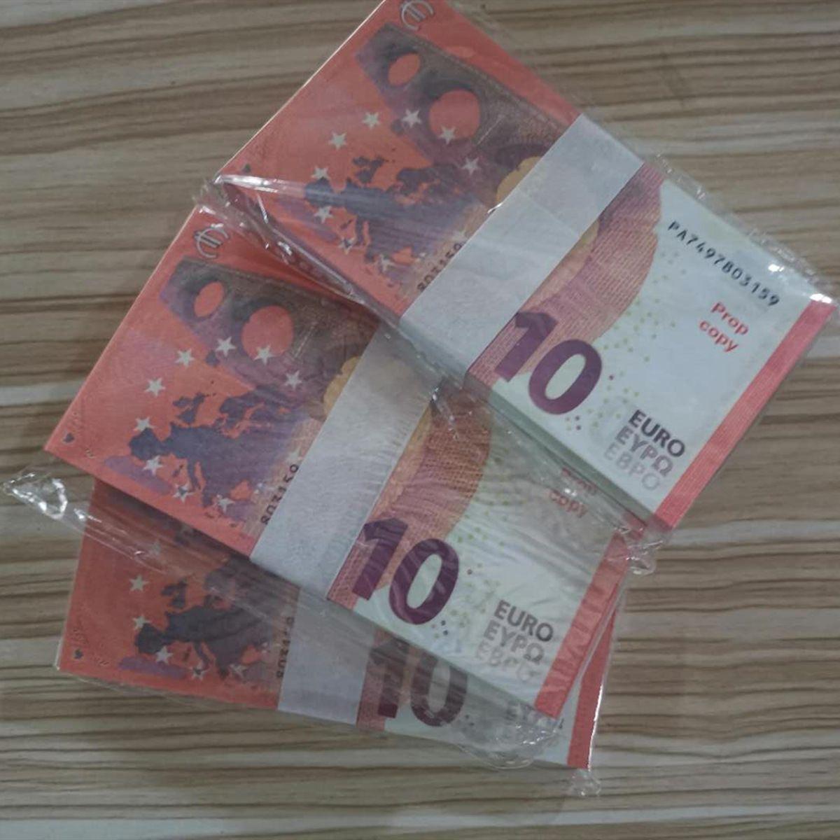 10 EUR 유로 축제 파티를 수집 가짜 게임 환율 소품 플레이 돈은 농담 선물 용품 10 * 25 * 5