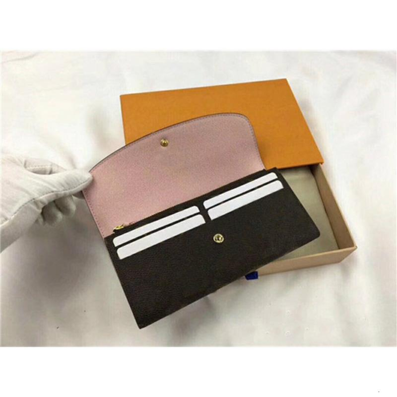 I92C Women Wallet Note Zipper Single Credit With Pocke Wallets Ladies Vintage Leather Long Up Card Purse Fashion Compartment For Box Wo Egxs