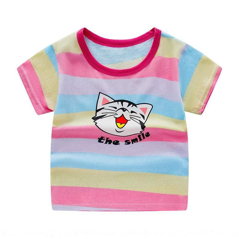 ZSWlh Корейский стиль одежды лета 2019 новый ребенок короткий рукав футболки мальчика половина рукав майка детской одежды футболки детской ткани