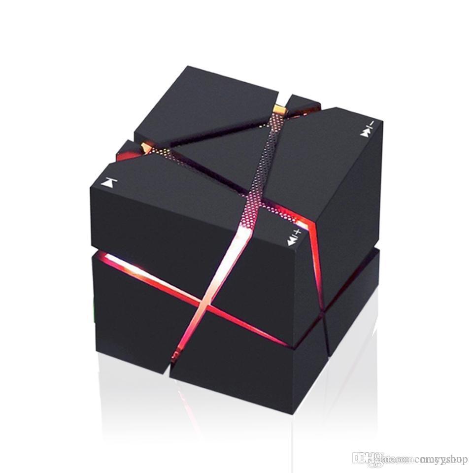 아이폰 X 컴퓨터에 대한 Caixa 괜찮다 솜 스테레오 사운드 박스 3w LED 라이트 서브 우퍼 열이 Qone 휴대용 미니 블루투스 스피커