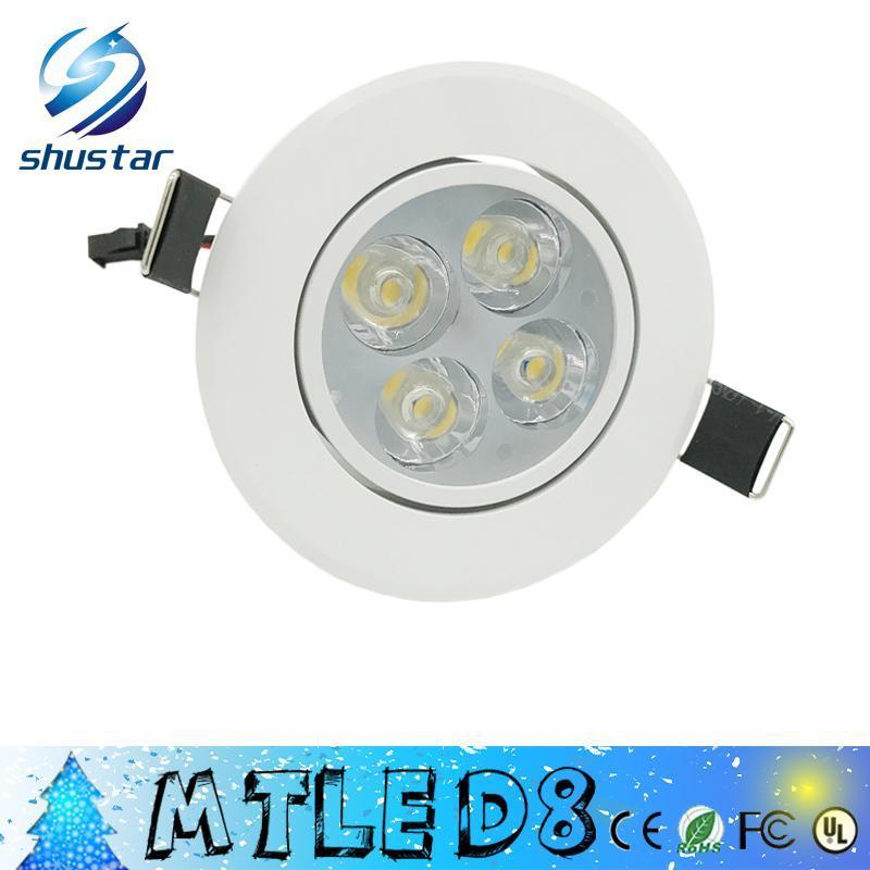 Led Dimmable 9W 12W Led Downlights de alta potência Led Downlights Recessed teto Luzes CRI85 AC 110-240V com fonte de alimentação