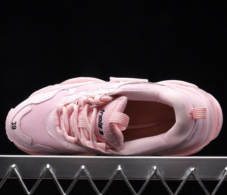 Nuovo lusso di alta qualità tripla S progettista bassi rosa papà soli combinazione scarpe moda casual da uomo e donna q27ize 36-45