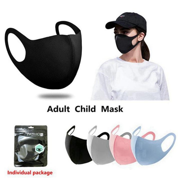 Анти Dust лица Рот Обложка РМ2,5 маска Респиратор пылезащитный Антибактериальные моющийся многоразовый Ice Шелковый хлопок Маски для взрослых маски для детей На складе