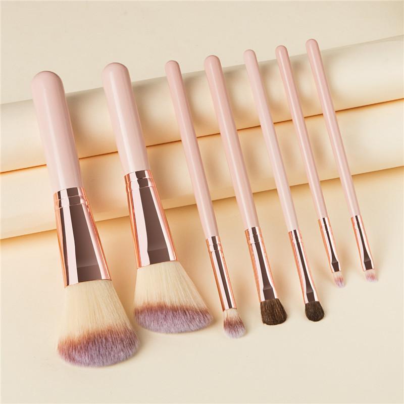 7pcs Maquillage Pinceaux pour la Fondation fard à joues fard à paupières poudre Correcteur Lèvres Maquillage Cosmétiques Maquillage Pinceau T07096