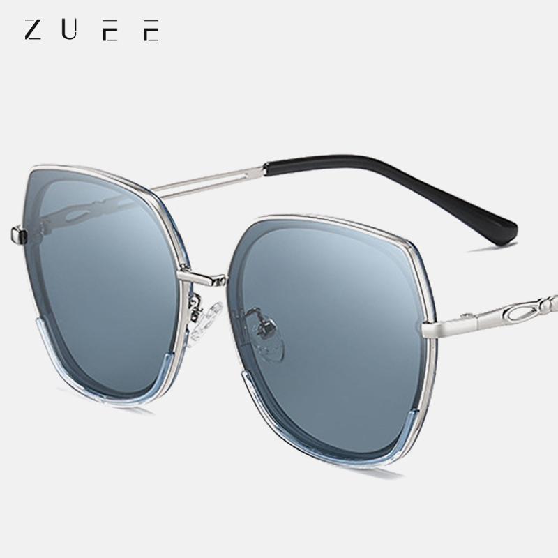 Площадь поляризованные очки Новые женщины Polygon Мода поляризованные очки Gradient Lens вождения ретро очки UV400 очки