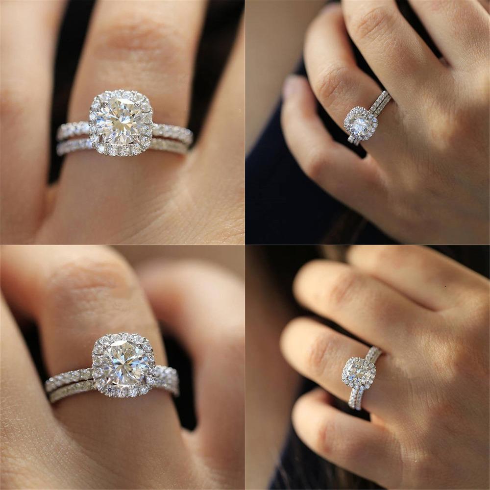 Accessori Cuore Set Signora Marry Anello gioielli in argento 925 femminile di moda massonica fascino speciale di monili anelli di fidanzamento per unghie