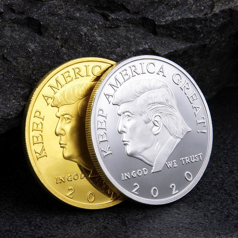2020 Oro Donald Trump Presidente de la moneda conmemorativa del triunfo de hierro Monedas Monedas de colección de recuerdos América del Presidente Trump Moneda Conmemorativa