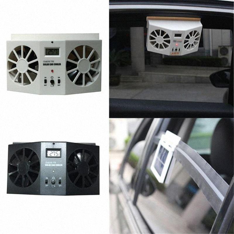 Car Solar Powered Exhaust Fan Car Gills Cooler Auto Ventilation Fan Dual-mode Power Supply High-power 2 Colors Optional LG0n#