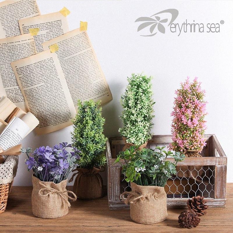 Erythrina Sea 1pc Lucky Clover Künstliche Pflanzen gefälschte Pflanzen Plantas Artificiales Para Decoracion 6eDF #