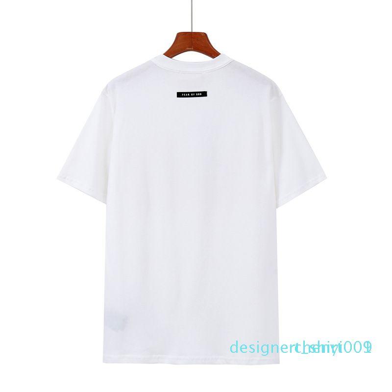 design shirt Homme Femme T-shirt FOG crainte de Dieu Essentials Hip Hop Kanye West été Streetwear Tee Tops 134Bd09