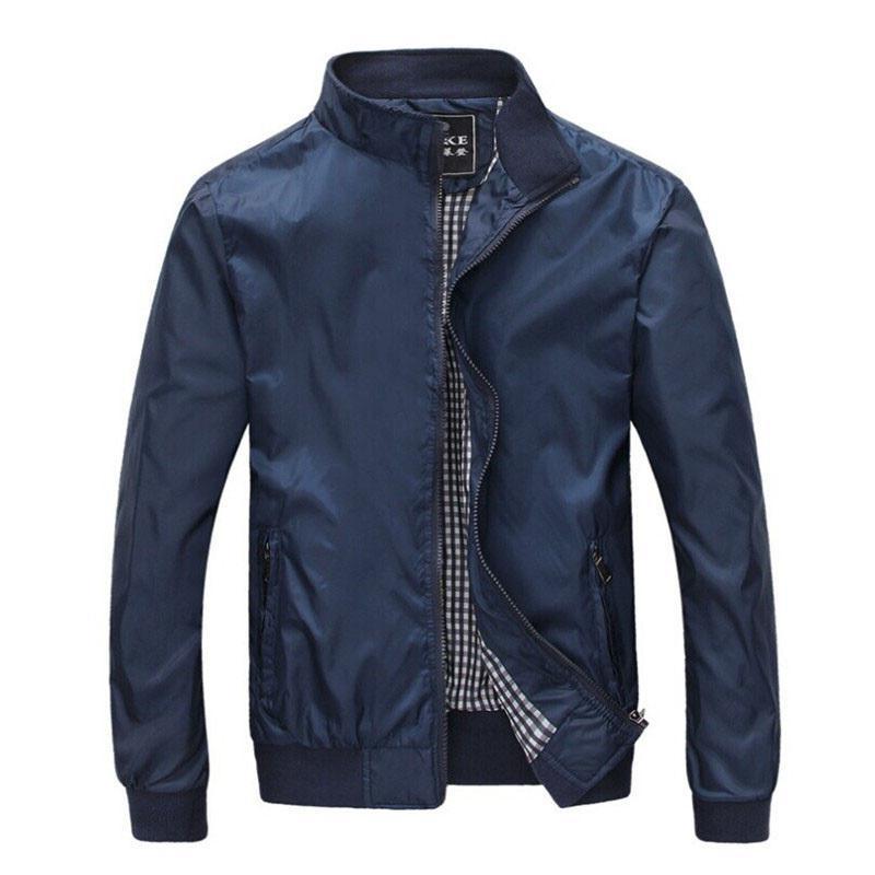 Большой размер 4XL 5XL мужские куртки весна лето Повседневная Bomber Тонкий Мужской ветровок Колледж Черный Ветровка Hommes Varsity Jacket CX200801