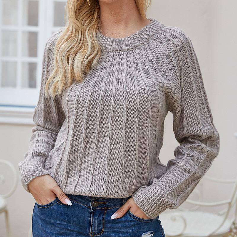 Sweaters pour femmes YMWMHU Pull rayé solide 2021 Pull d'hiver Femmes Tops tricotés Plus Taille Casual Manches à manches longues Femme Vintage