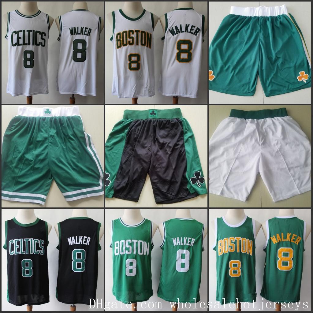 2019-20 BostonCelticKemba Walker Swingman Jersey New Sponsor PatchNBA Men Basketball Jerseys Shorts