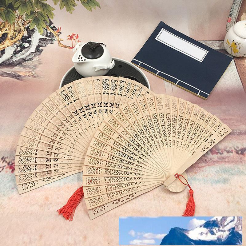 Nuovo cinese aromatici ventilatori della mano di legno portatili Lady sposa fatto a mano pieghevoli fan Home Decor favori di partito all'ingrosso